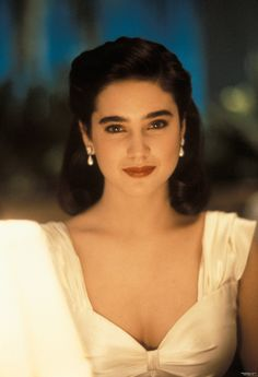 Jennifer Connelly in a promo photo for The Rocketeer (1991).