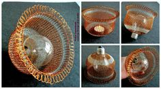 YooLa Wire Lampshade. Wire Lampshade, Embroidery, Crochet, Jewelry, Design, Needlepoint, Jewlery, Bijoux, Chrochet