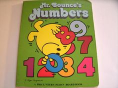 Mr. Bounce's Numbers Roger Hargreaves Mr. Men Book Vintage 1980s