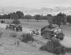 Morris Commercial C8 Field Artillery Tractor, So the same famous as Quad QF 6 pounder 7 cwt 57 mm anti-tank gun) by road to Tunisia.