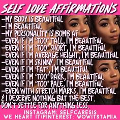 Self-confidence and affirmation of self-worth Girl Advice, Girl Tips, Girl Life Hacks, Girls Life, Glow Up Tips, Self Love Affirmations, Baddie Tips, Hoe Tips, Self Improvement Tips