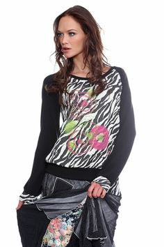 ME Paris: Little Pink Zebra Sweater, only on wildcurves.com!