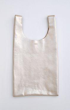 Platinum Leather Bag, Baggu