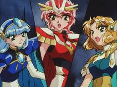 Magic Knight Rayearth is a Japanese manga, anime and game series created by Clamp. Haruhi Suzumiya, Magic Knight Rayearth, Card Captor, Anime Episodes, Cardcaptor Sakura, New Chapter, Magical Girl, Boruto, Unique Art