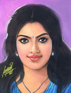 Oviyar Maruthi Indian Women Painting, Indian Art Paintings, Female Face Drawing, Woman Drawing, Sexy Painting, Woman Painting, 3d Art Drawing, Color Pencil Art, Beauty Full Girl