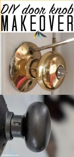 DIY Painted Knobs / How To Paint Door Hardware