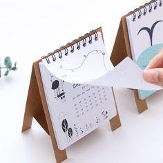 Świeże Cartoon Mini Kalendarz Nagradzanie Szkoły Biurowymi roku 2018 Dzieci Prezent Plan Organizator DIY Rzemiosła Papieru Prezent Dla Dzieci