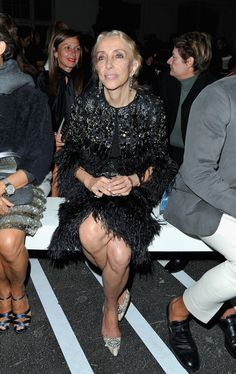 Franca Sozzani at Givenchy:  Paris Fashion Week Womenswear Spring / Summer 2013