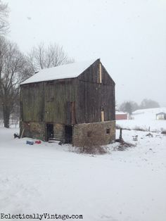 Beautiful old barn eclecticallyvintage.com
