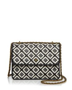 19630e9a10ca Tory Burch Robinson Woven Quilted Convertible Shoulder Bag EDITORIAL -  Women s New Arrivals - Handbags - Bloomingdale s