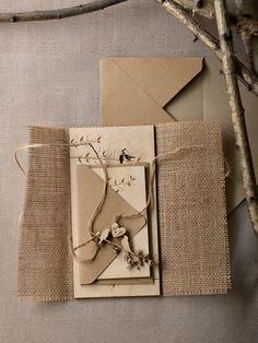 Rustic wedding invitations from @4LOVEPolkaDots