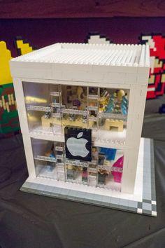 Réplica de una Apple Store Creada con Piezas de Lego