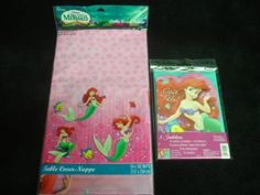 Disney's The Little Mermaid Table cover & 8 x Party Invitations by Hallmark Party Express. $9.88