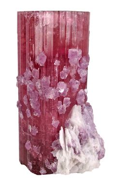 Tourmaline with Lepidolite and Cleavlandite from San Diego