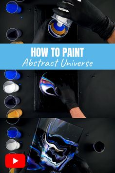 Ever wondered how to paint an abstract Universe using Acrylic Painting? In this video tutorial, I will show you in detail, also you will learn how to create an amazing painting using the Dirty Pour technique. Fluid Art tutorial by Vizoli Art #acrylicpouring #acrylicpainting #abstractpainting #paintingoncanvas
