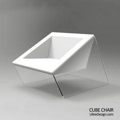 【LifeixDesign】原创 现代 定制 亚克力透明沙发【CUBE Chair】的图片