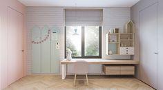 Super Stylish Kids Room Designs - girls desk