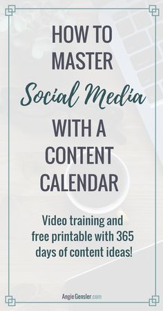 How To Create An Epic Content Calendar For  With Template