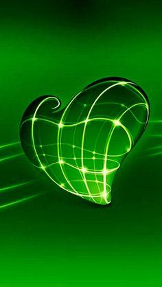 Heart Wallpaper, Green Wallpaper, Love Wallpaper, Cellphone Wallpaper, Wallpaper Backgrounds, Wallpapers, Mean Green, Go Green, Green Colors