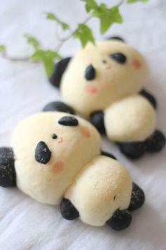 Kawaii Panda Buns