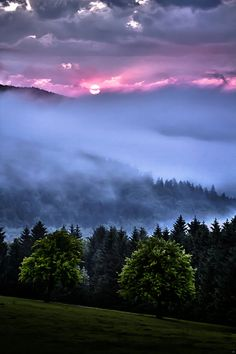 photo ... sunset as wth fog rolls in ... gorgeous  colors ...