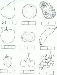 Werkblaadje klanken thema fruit