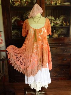 Luv Lucy DressTunic Lucy's Coral Sunset by TheVintageRaven on Etsy, $175.00 FREE SHIPPING NOW THROUGH SUNDAY!!