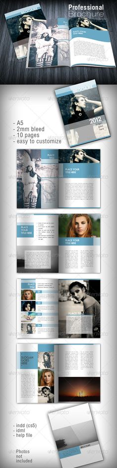 Shaped Brochure  #GraphicRiver         Features:    8,5×11 inches  10 pages  300 dpi  CMYK   2 mm Bleed  Print ready  Files Included:    Indesign files (indd)  idml  txt help file   All fonts are free! Photos not included. Photos by  Anastasia      Created: 7August12 GraphicsFilesIncluded: InDesignINDD Layered: Yes MinimumAdobeCSVersion: CS5 PrintDimensions: 8.2x5.8 Tags: brochure #clean #corporate #gray #light #minimal #modern #portfolio #shaped #unique