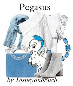 """Pegasus"" by disneyandsuch ❤ liked on Polyvore featuring rag & bone/JEAN, Jenny Packham, Mark Cross, Portolano, Rosie Assoulin, ASPCA, Gianvito Rossi, disney, hercules and disneybound"