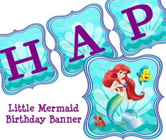 little mermaid free party printables - Buscar con Google