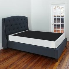 Alwyn Home Instant Wood Mattress Foundation Size: Twin, Height: Queen Platform Bed, Upholstered Platform Bed, Pillow Top Mattress, Foam Mattress, Sleigh Beds, Bed Reviews, Adjustable Beds, Headboard And Footboard, Panel Bed