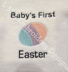 Babys First Easter Egg Embroidery Design by LMTEmbroideryDesigns Applique Designs, Embroidery Designs, Embroidery Applique, Machine Embroidery, Hardware Software, Easter Eggs, Babys, 4x4, Your Design