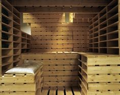 Pallet wood sauna