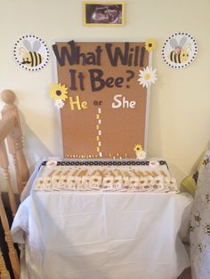 """""""What will it bee?"""" Gender Reveal Party!"""