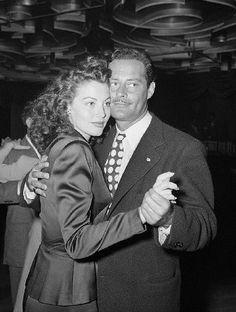 gatabella: Ava Gardner dancing with Alexander D'Arcy at the Trocadero, 1944