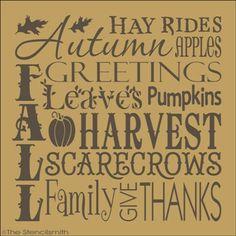 Harvest Blessings Stencil washa reusable stencil Autumn Stencil Fall Stencil