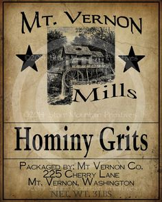 Primitive Hominy Grits Mill Jpeg Digital Image by Starrmtnprims, $3.00