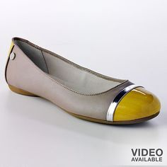 Dana Buchman Ballet Flats in Taupe & Yellow << own