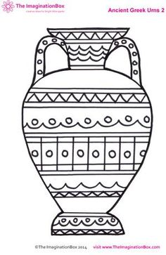 Art Projects: Free download vase template (Ancient Greece)