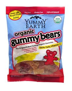 Natural Halloween candy: Yummy Earth Gummy Bears