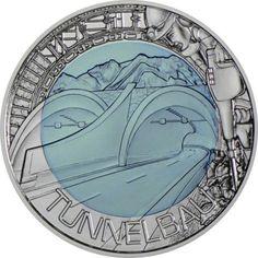 25 Euro Silber/Niob Tunnelbau PN