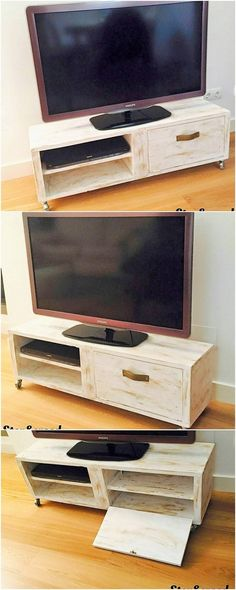 If you want to make your wood pallet media table project much more functional and useful then you can make it often add with the cabinet purpose too. This media table project as finished with the cabinet work has been said out to be much more inspiring and favorable.