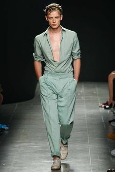 Bottega Veneta Spring-Summer 2015 Men's Collection // Would love to wear matching dress shirt and slacks to my wedding.