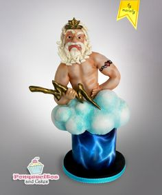 Zeus for Sugar Myths and Fantasies - Cake by Marielly Parra Airbrush Cake, Patisserie Cake, Fantasy Cake, Cupcakes, Confectionery, Gum Paste, Clay Creations, Cake Art, Cake Designs