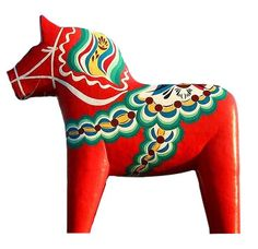 The iconic Dala horse originates from Dalarna, the folk part of Sweden, otherwise known as 'the heart of Sweden', otherwise known as the place I'm from!