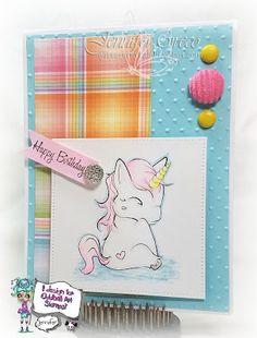 Glitter in my Hair, unicorn, oddball art stamps, oddball art, oddball, lizzy love