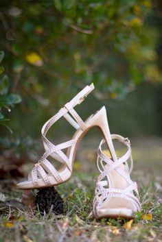 Blush Strappy Bridal Sandals   Ashley Mock   Captured by Colson Photography https://www.theknot.com/marketplace/captured-by-colson-photography-valdosta-ga-505136