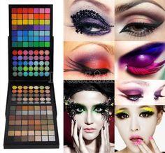 EyeShadow 177 Palette Cheek Blush Lip-gloss Makeup Set + Mini Eye Brush