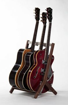 Walnut Rafter multi guitar stand