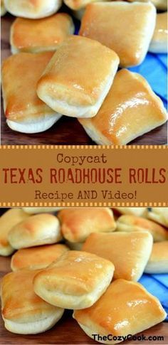 sweet and buttery Copycat Texas Roadhouse rolls are just like from the res. - These sweet and buttery Copycat Texas Roadhouse rolls are just like from the restaurant itself! The -These sweet and buttery Copycat Texas Roadhouse rolls are just like . Bread Machine Recipes, Easy Bread Recipes, Cooking Recipes, Cooking Games, Cooking Tips, Cooking Steak, Cooking Salmon, Cooking Turkey, Cooking Food
